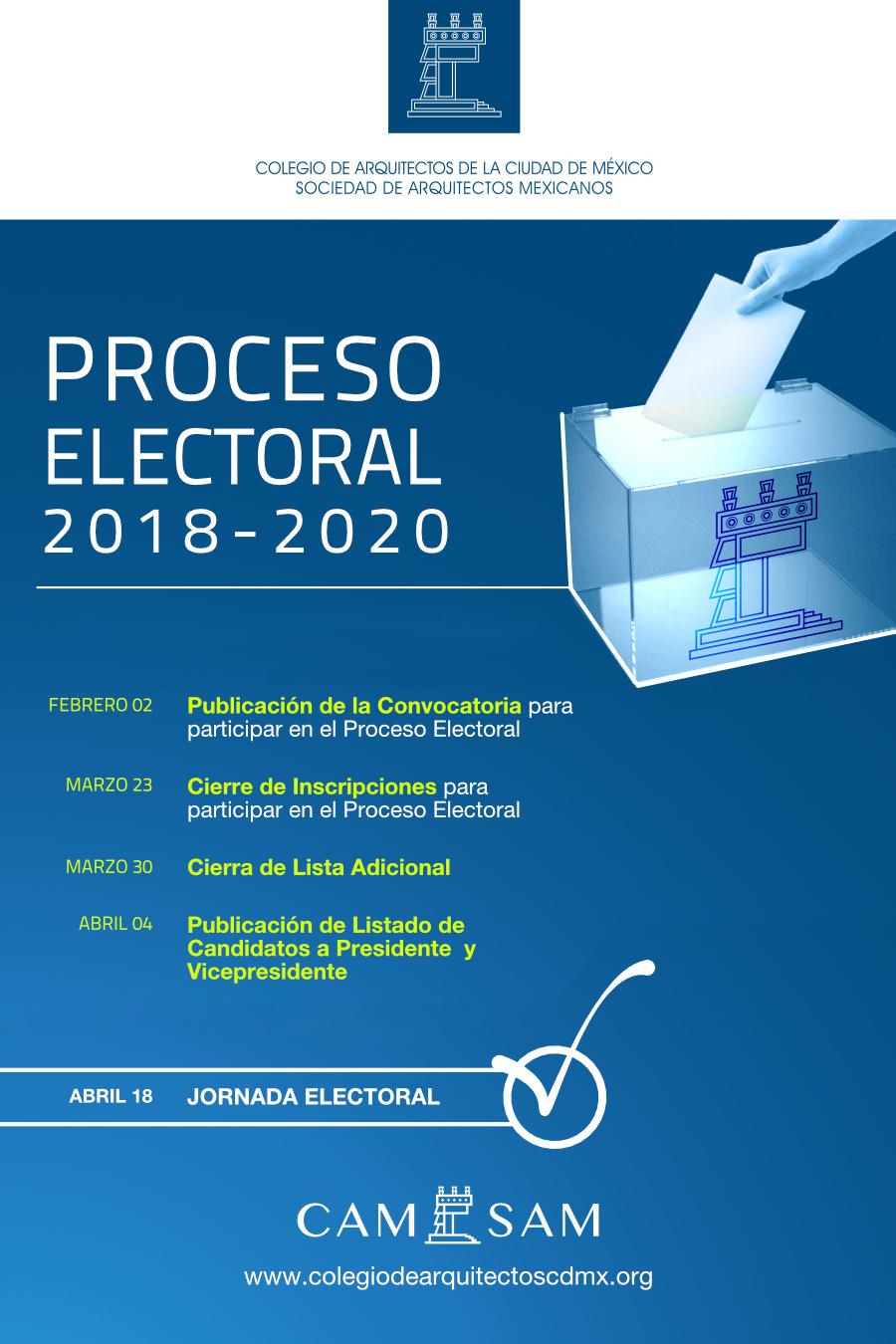 Proceso Electoral 2018-2020   Colegio de Arquitectos de la Ciudad de ...