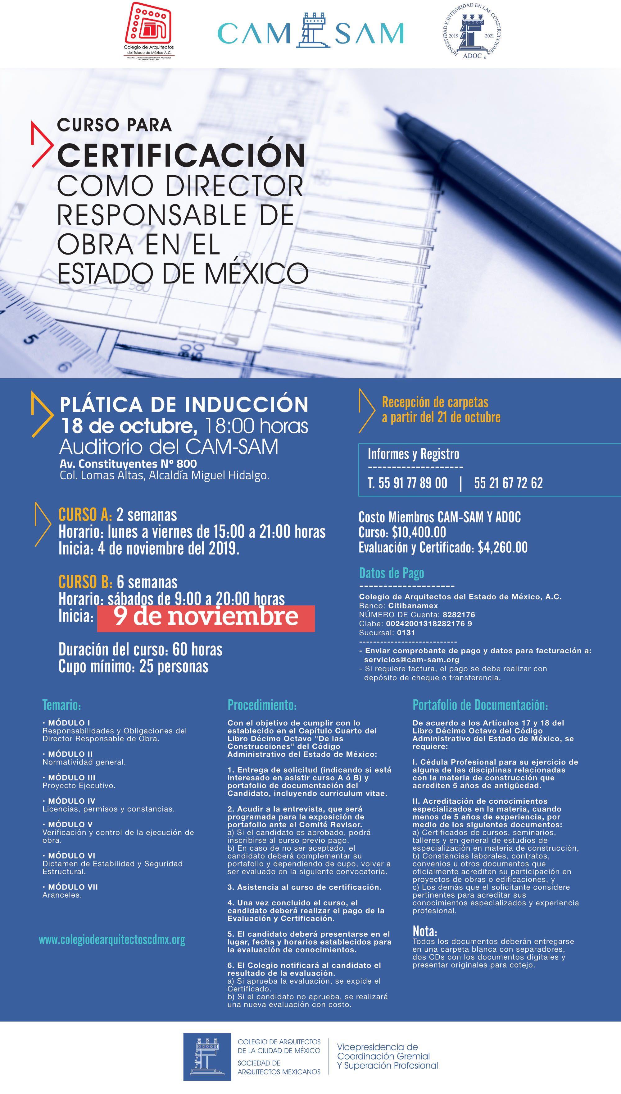 Certificación DRO Estado de México
