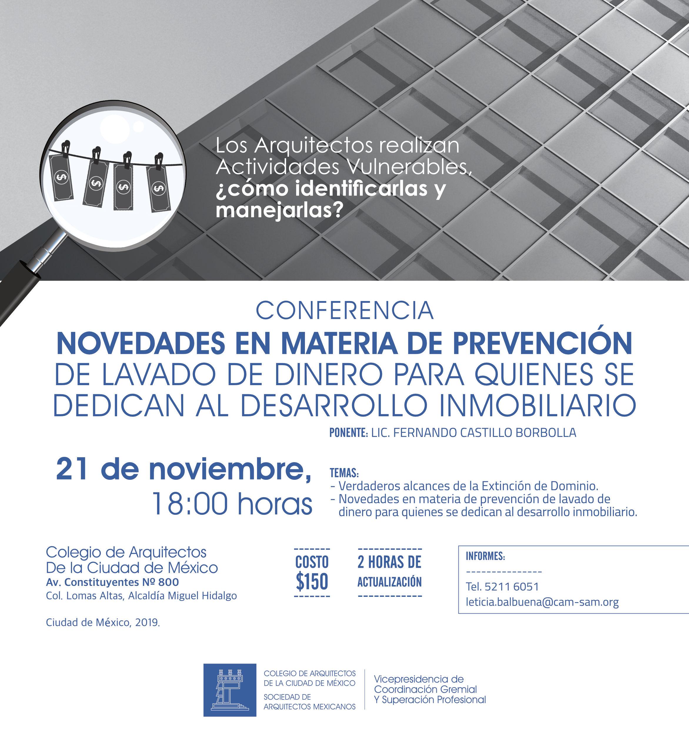 Conferencia Novedades en materia de prevención