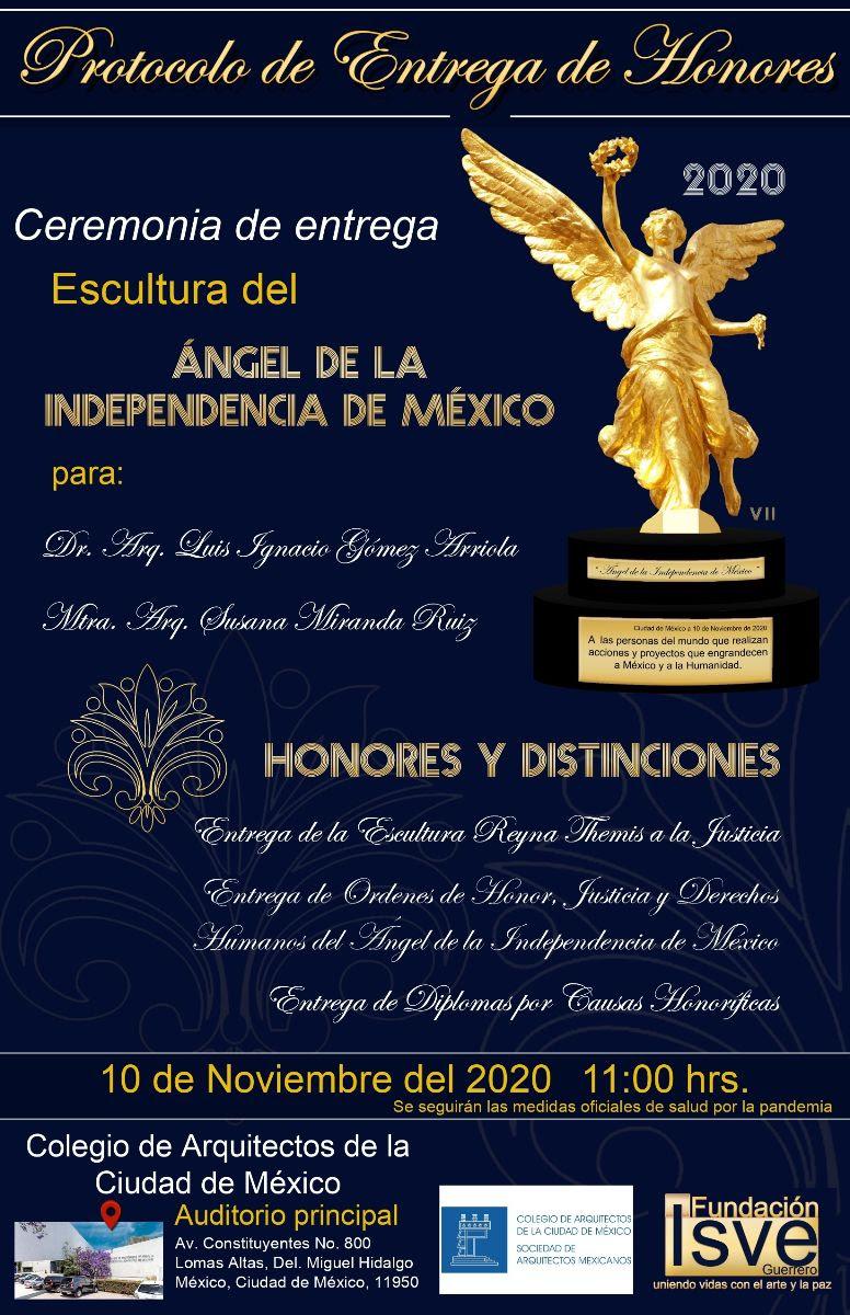 Ceremonia de Entrega - Escultura del Ángel de la Independencia de México